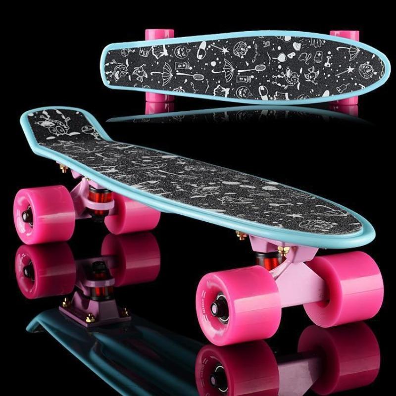 Professional Skateboard Sticker Solid/Printed Anti-slip Waterproof Adhesive Single Rocker Sandpaper For Penny Board