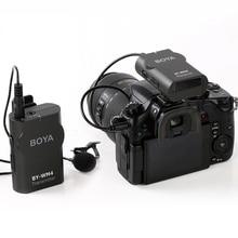 BOYA BY WM4 Wireless Lavalier Microphone System Interview Video Mic for Canon Nikon Sony DSLR Smartphone iPhone X Samsung Xiaomi