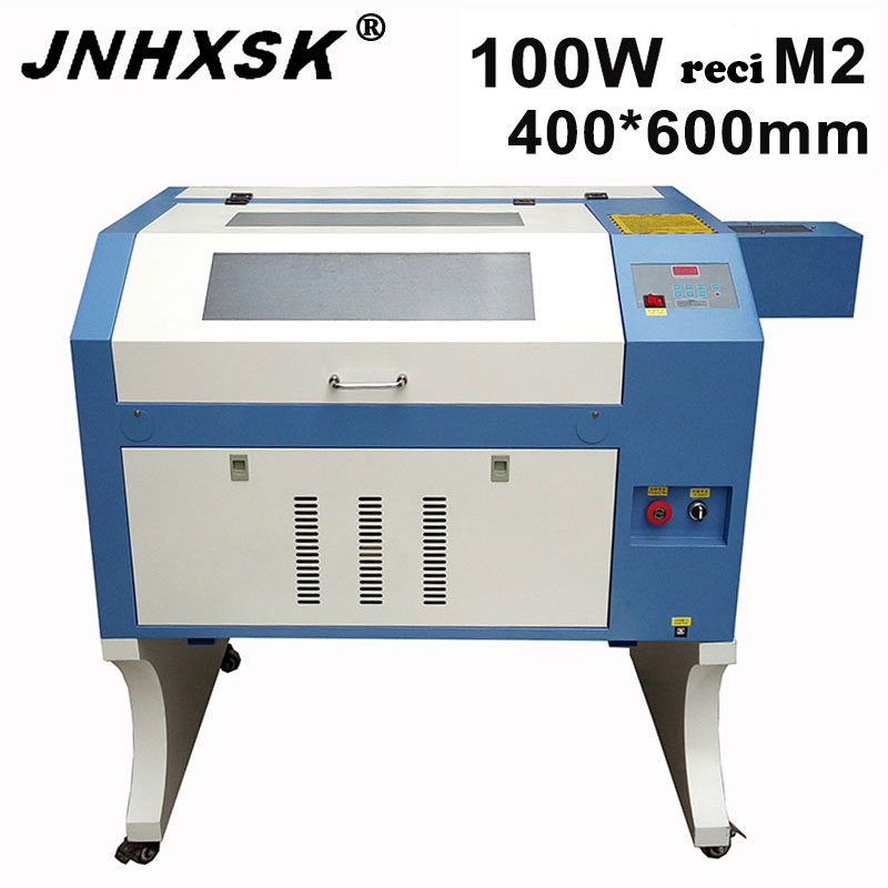 JNHXSK Mini Laser Engraver machine <font><b>Co2</b></font> Laser <font><b>4060</b></font> <font><b>100W</b></font> reci Laser Engraving machine Cutting Machine 400*600mm laser cutter DIY image
