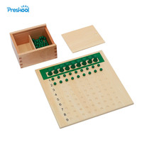 Baby Toy Montessori One Division Bead Board for Early Childhood Education Preschool Training Toys