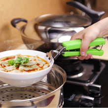 Mini Catch Disk Burn Clip Non-Slip Stainless Steel Lifting Bowl Household Small Tool Take Device Casserole