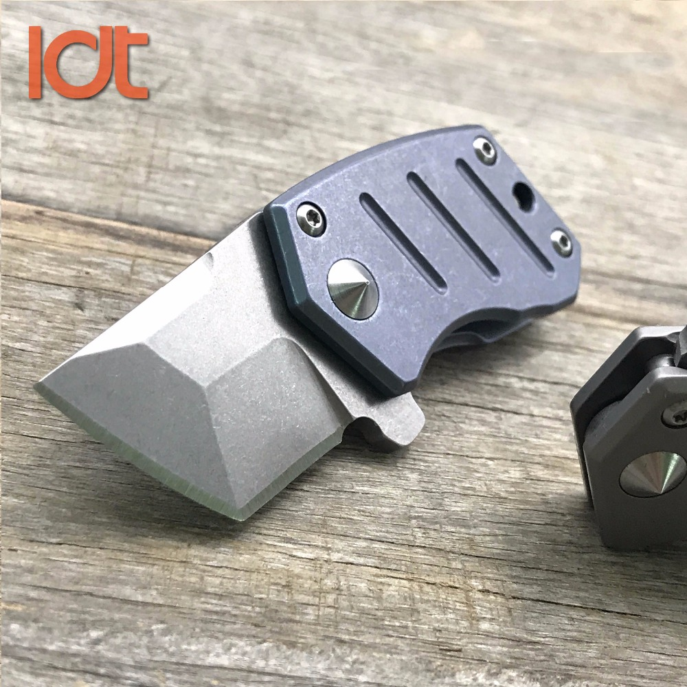 LDT STUB Mini Folding Knives S35VN Blade Titanium Handle Camping Outdoor Pocket Knife Survival Hunting Tactical Knife EDC Tool outlife new style professional military tactical multifunction shovel outdoor camping survival folding spade tool equipment