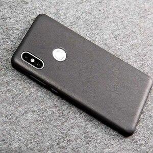 Image 4 - Original Xiaomi Mi Mix 2กรณีของแท้หนังPC Mi Mix 2SสำหรับXiaomi Mix 2Sกรณีคุณภาพสูงสีดำ