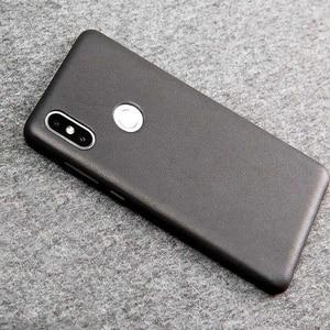 Image 4 - Original Xiaomi Mi Mix 2S case cover Genuine leather PC Mi Mix 2S Back Cover For Xiaomi Mix 2S Case High Quality Luxury Black