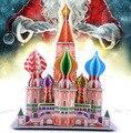 Brinquedo criativo catedral de são basílio Moscow rússia 3D DIY papel quebra-cabeça modelo de construção kits crianças kid brinquedo de presente de jogos 1 conjunto