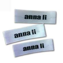Free shipping customized white satin woven labels/clothing labels/tags/garment collar labels