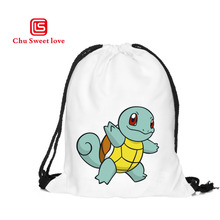 Women Canvas Drawstring Bags Tortoise Printed Backpack For Teenage Girls Fashion Female Drawstring Backpacks Girls School