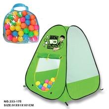 Dětský stan s kuličkami – 30 měkkých balonků