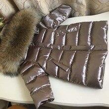 Los niños abajo de la chaqueta niña niño Rusia invierno piel engrosada niños  Parkas 90 abajo abrigo largo 2-12Y ropa de bebé- 30. 19d136ee411b5