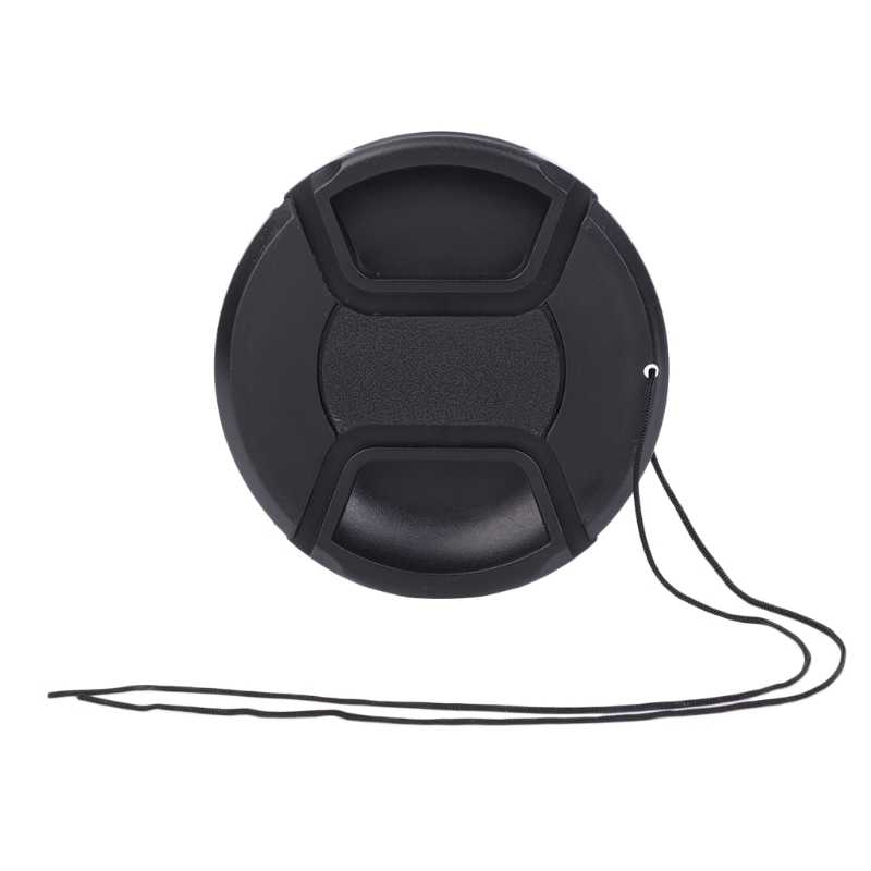 DSLR Camera Snap-on Dust-proof No Letters 67 mm Lens Cap Cover + String Set
