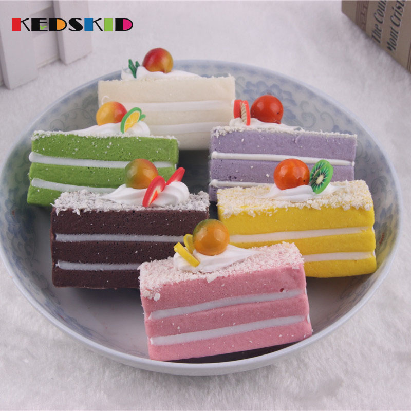 Artificial Cream Sandwich Cake Simulation Model Ornaments Cake Bakery Room Home Decoration Craft Kids Pretend Play Toy