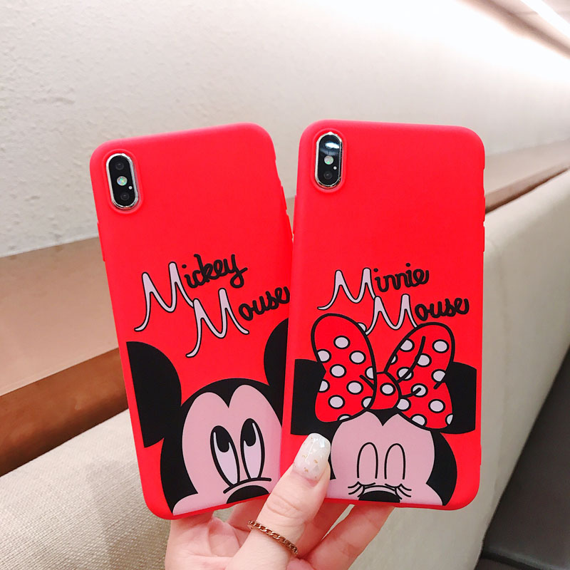 For Xiaomi Redmi Note 7 Note 5 Pro 5A 4A Mi 9 SE 6X 5X A1 A2 Cartoon Mickey Minnie Mouse Painted Soft TPU Phone Case Cover
