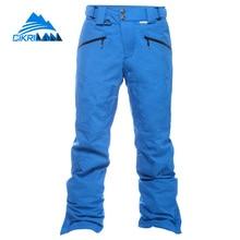 Venta caliente 2016 Invierno Resistente Al Agua Caliente Esqui Pantalon Hombre Pantalones Hombres Pantalones de Snowboard de Esquí de Nieve de Algodón a prueba de Viento Térmico