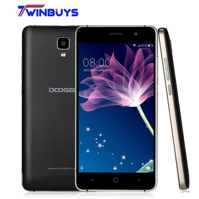 """Оригинал DOOGEE X10 смартфон 3 г WCDMA 5.0 """"Android 6.0 MTK6570 двухъядерный сотовые телефоны Оперативная память 512 М Встроенная память 8 ГБ 5MP 3360 мАч мобильного телефона"""