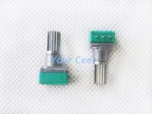 10 шт. 20 k b20k 15 мм стерео/pa/уплотнение потенциометра одноместный потенциометра 3 ноги с гайкой для аудио усилитель мощности