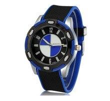 Hommes silicone BM montre quartz marque womage montres Nouveau mode masculine grand cadran élégant montre de sport casual cadran rond relogios