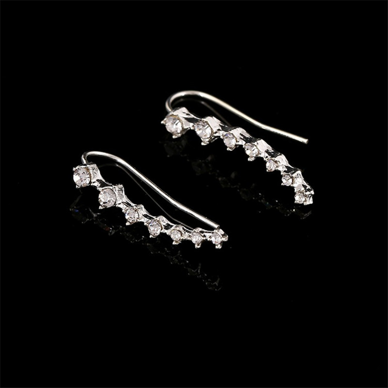 SEVENSTONE 2019 New Fashion Reiki Silver Alloy Korean Style Jewelry for Women Foreign Trade Wholesale Long Bride Earrings Angel in Drop Earrings from Jewelry Accessories