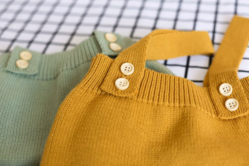 2020 High Quality Baby Boy Knit Romper Girls Cute Crochet Rompers Toddler Brand Spring Suspender Infant Lovely Knitting Romper | Happy Baby Mama