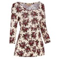 Moda Peplum Tops da Cópia Floral Casual T Camisas de Algodão Das Mulheres Top de Manga Longa Sexy Slim Novidade Mulheres Tops Plus Size Blusas