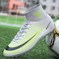 Football Boots Ankle High Tops Soccer Cleats Boots Long Spikes & Short Spikes Men's Football Shoes Sneakers Indoor Turf Futsal