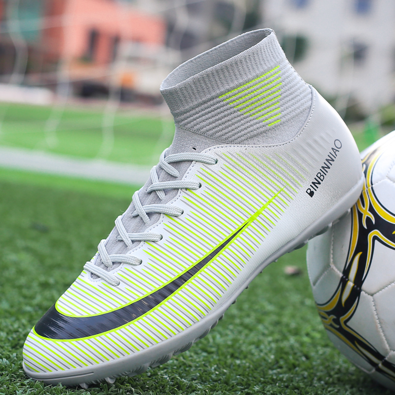 Football Boots Ankle High Tops Soccer Cleats Boots Long Spikes & Short Spikes Mens Football Shoes Sneakers Indoor Turf  FutsalFootball Boots Ankle High Tops Soccer Cleats Boots Long Spikes & Short Spikes Mens Football Shoes Sneakers Indoor Turf  Futsal