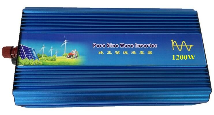цена на zuivere sinus omvormer 1200W peak 2400W pure sine wave solar power inverter DC 12V 24V 48V to AC 110V 220V digital display