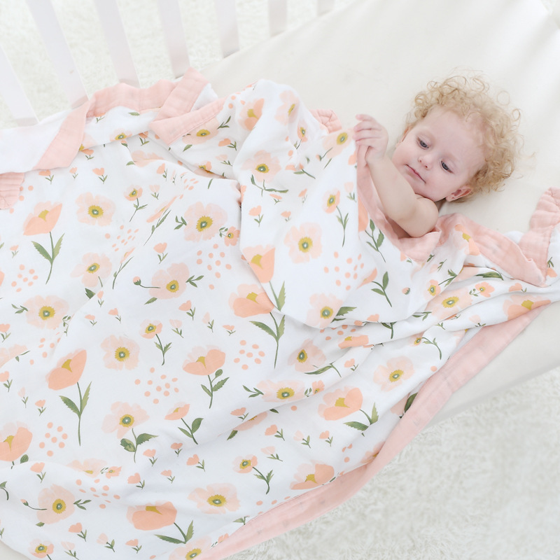 Four Layer 100% Bamboo FIber Blanket For Newborn Baby Swaddling Super Comfy Bedding Blankets Swaddle Wrap Babies Muslin