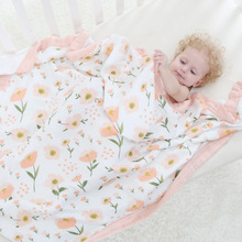 Four Layer 100% Bamboo FIber Blanket Newborn Baby Swaddling Super Comfy Bedding Blankets Swaddle Wrap Babies Muslin