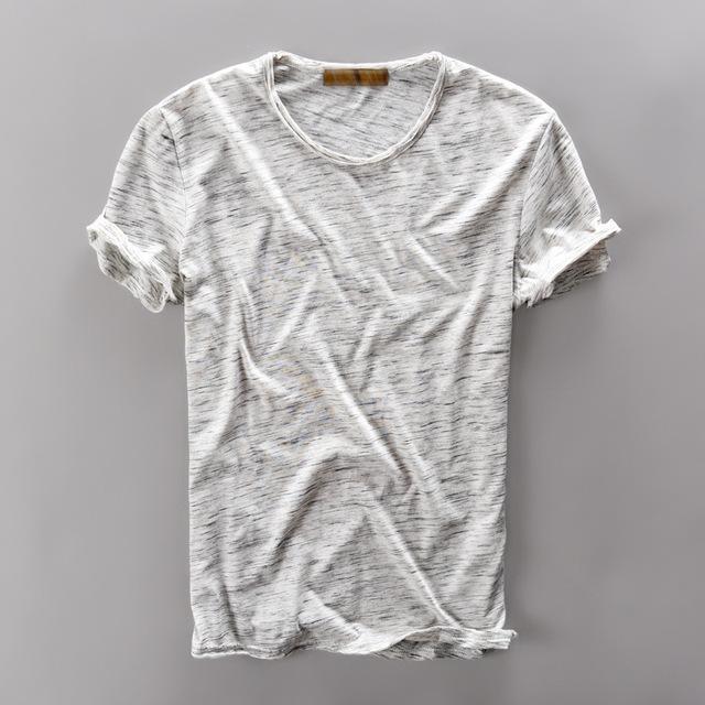 Nuevo estilo de la marca de Ropa T Camisa de los Hombres la Ropa de Algodón de Manga Corta verano Delgado de Los Hombres Remata camisetas Camiseta Para Hombre Camisa Camisas para hombre Sólido