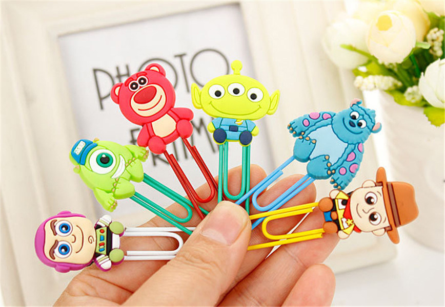 6PCS/SET Lovely Toy Story Bookmarks for Book Page Holder,DIY Cartoon Paper Clips,Office School Supplies,Magazine Label Reading ...