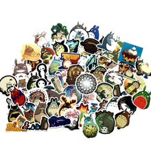 64pcs Tonari no Totoro cartoon paster funny anime decals scrapbooking diy stickers decoration phone waterproof accessory