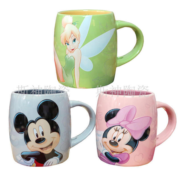 Original Mickey Minnie The Flower Angel Design Ceramics Milk Mugs Cute Porcelain Coffee Mug Cup Kids