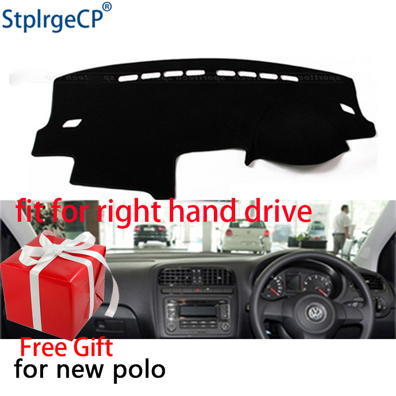 US $12 9 40% OFF|Car Dashboard Cover Mat for Volkswagen Polo MK5 6R 2009  2018 Right Hand Drive Dashmat Pad Dash Mat Covers Dashboard Accessories-in