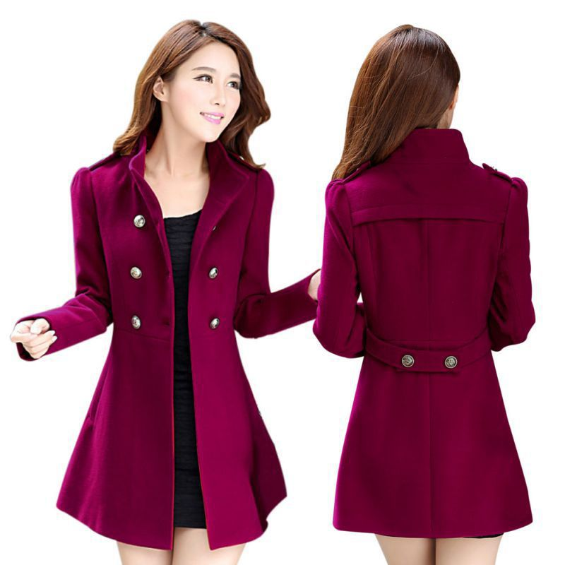 4763427a6c Detail Feedback Questions about Women Autumn Winter Coats Jackets Warm  Cotton Padded Wool Blends Casaco Solid Long Coat Collar Jaqueta Feminina on  ...
