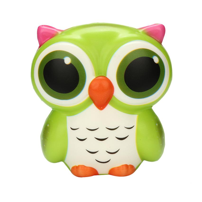 Original Kawaii Adorable Owl Squishy Slow Rising Cartoon Doll Cream Scented Stress Relief Toy Collection Cure Gifts 7.4