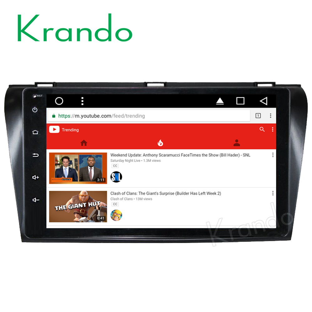 Krando Android 8 1 9 full touch no dvd car radio gps stereo for Mazda 3