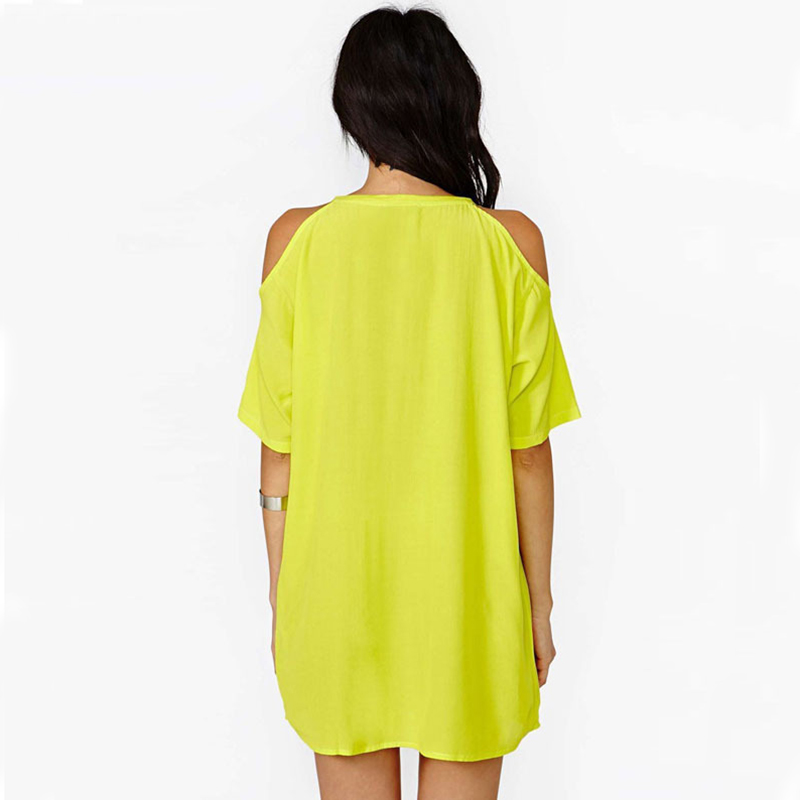 Chiffon Dresses 2018 new fashion O neck off the shoulder solid mini thin cloth plus size XXXL hot sale women summer dress 6139