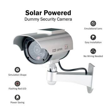 Fake Camera Solar Powered Dummy Camera High Simulation CCTV Camera Home Security Surveillance Camera With Led Red Light Flashing