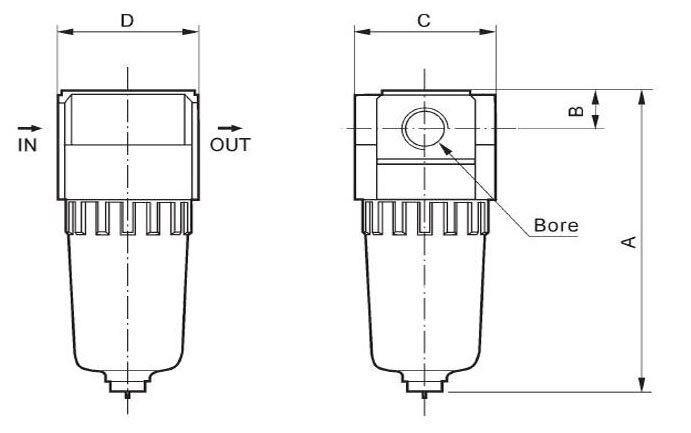 1/8 ''smc аэрозольный сепаратор модульный AF2000-01 Пневматический воздушный фильтр из AF2000