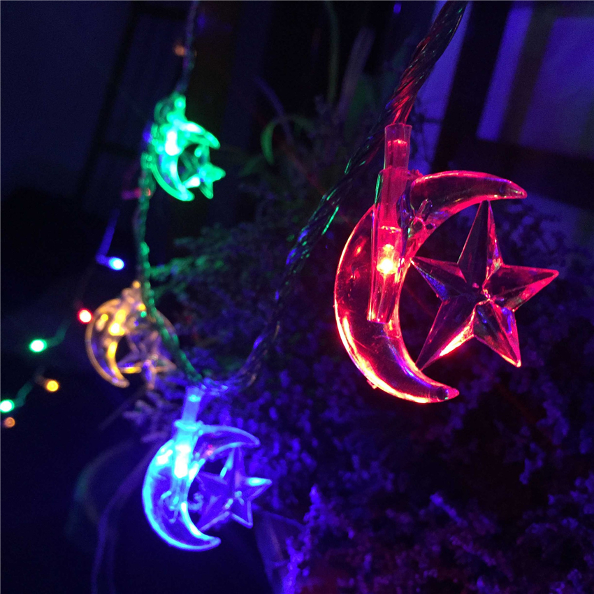 5M 20 Bulbs Garlands LED String Lights Moon Star Decor Garden Light Holiday Christmas Li ...