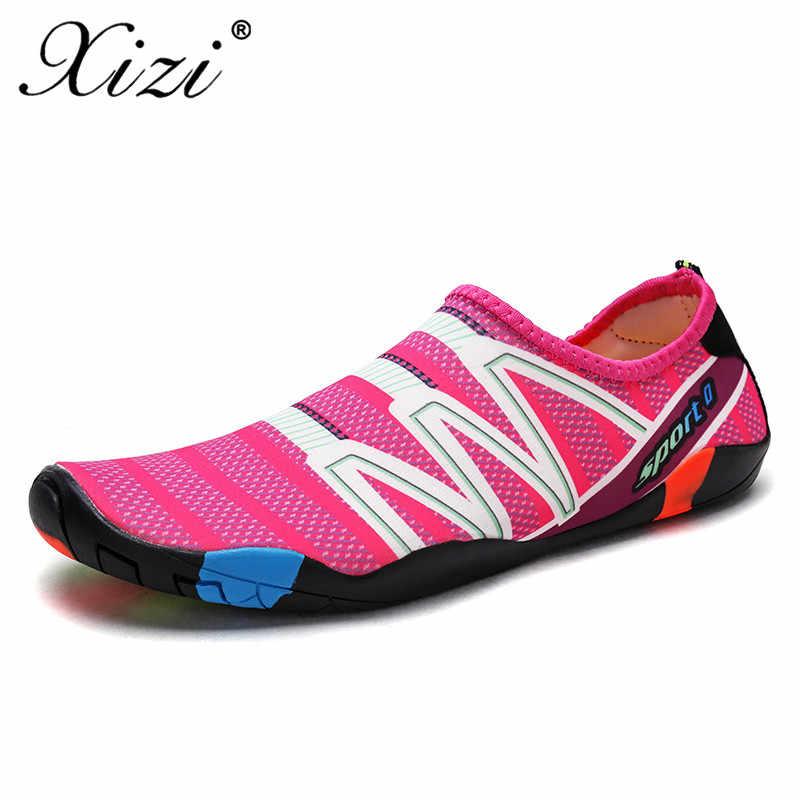 XIZI/Новая летняя Женская водонепроницаемая обувь; акваобувь для пар/влюбленных; пляжные слипоны; сандалии для аквапарка; Sandalias Mujer