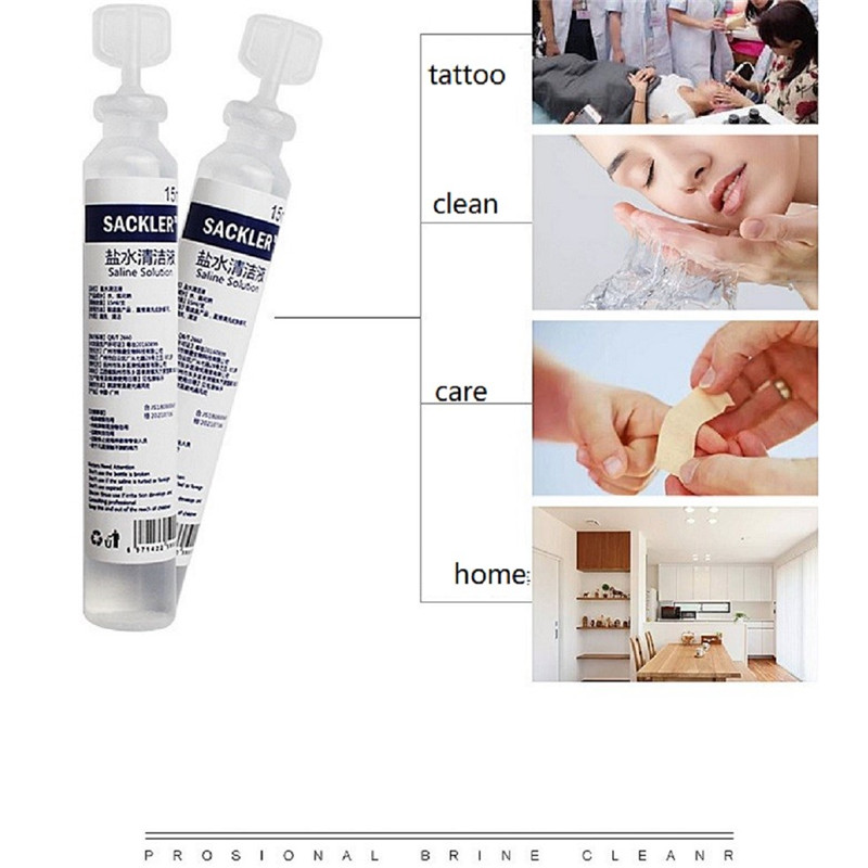 Salt Solution Cleaning For Permanent Makeup Beauty Salon Tattoo Accessories Clean Skin