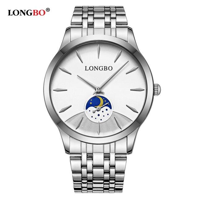 Fashion New LONGBO Brand Waterproof Lovers Watch Fashion Full Stainless Steel Ba