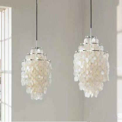 Natural sea rock shell pendant lamps restaurant lights aisle bedroom lights, E27, AC110-240V. shell restaurant bedroom sea rock shells pendant light lamps 50cm lamps and lanterns of creative study zcl