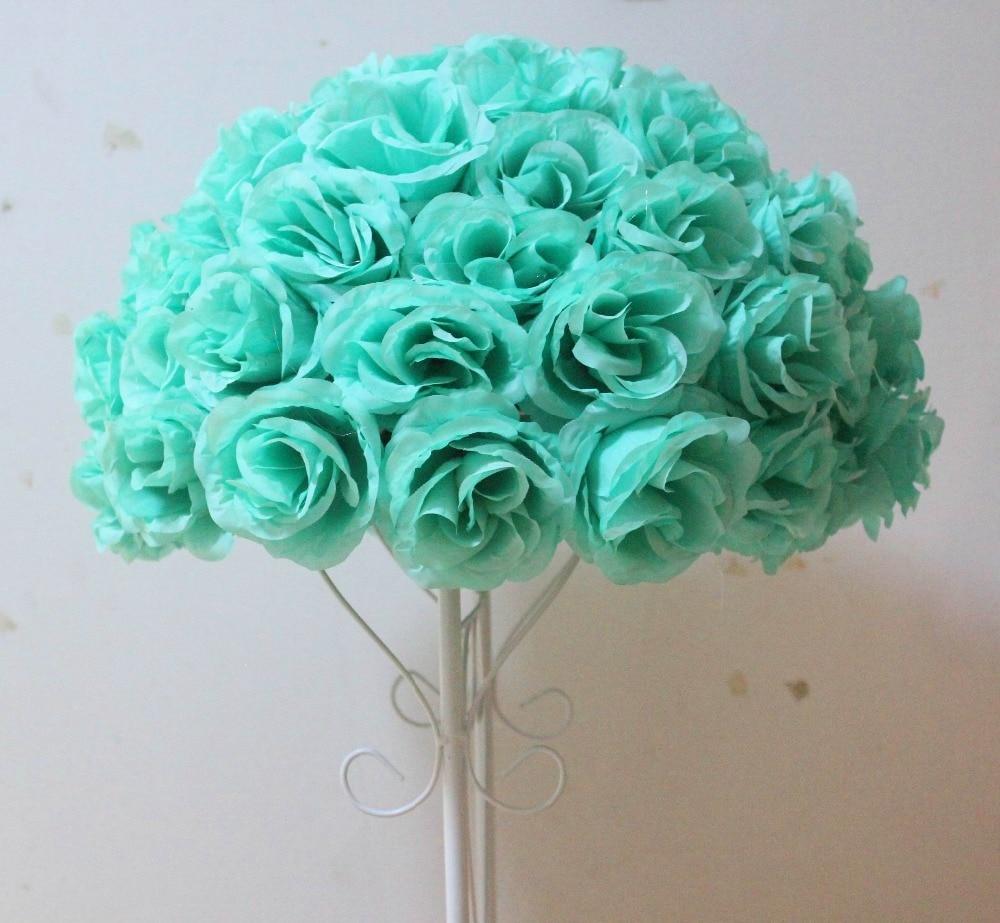 Hot 40cm4 Pcs Rose Kissing Ball Artificial Silk Flower Wedding