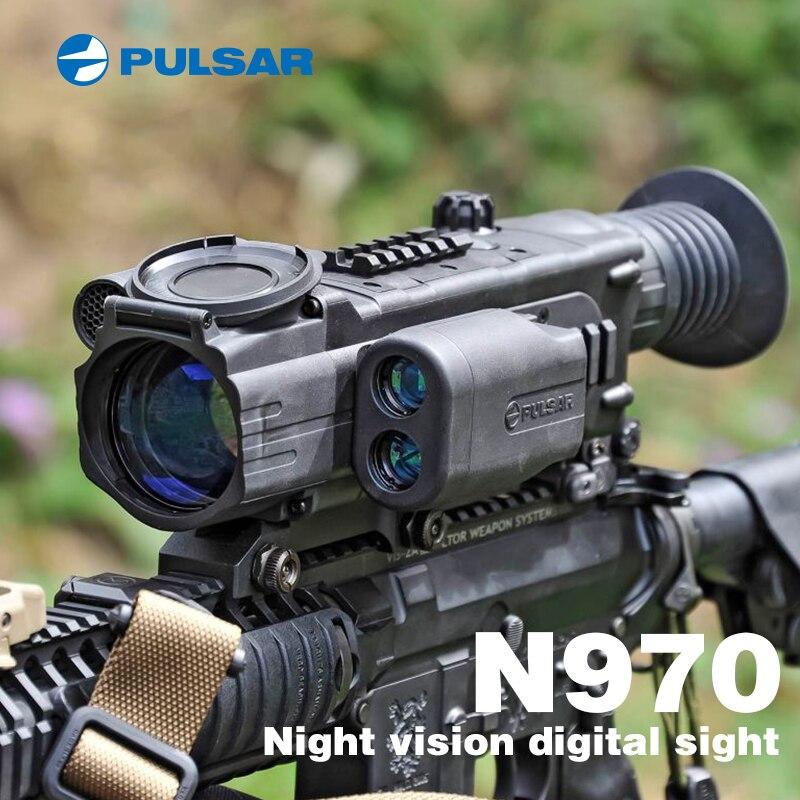 PULSAR N970 Digitale di visione notturna cannocchiale vista di notte portata di visione notturna di notte riflescope di caccia merci a raggi infrarossi Che Vanno