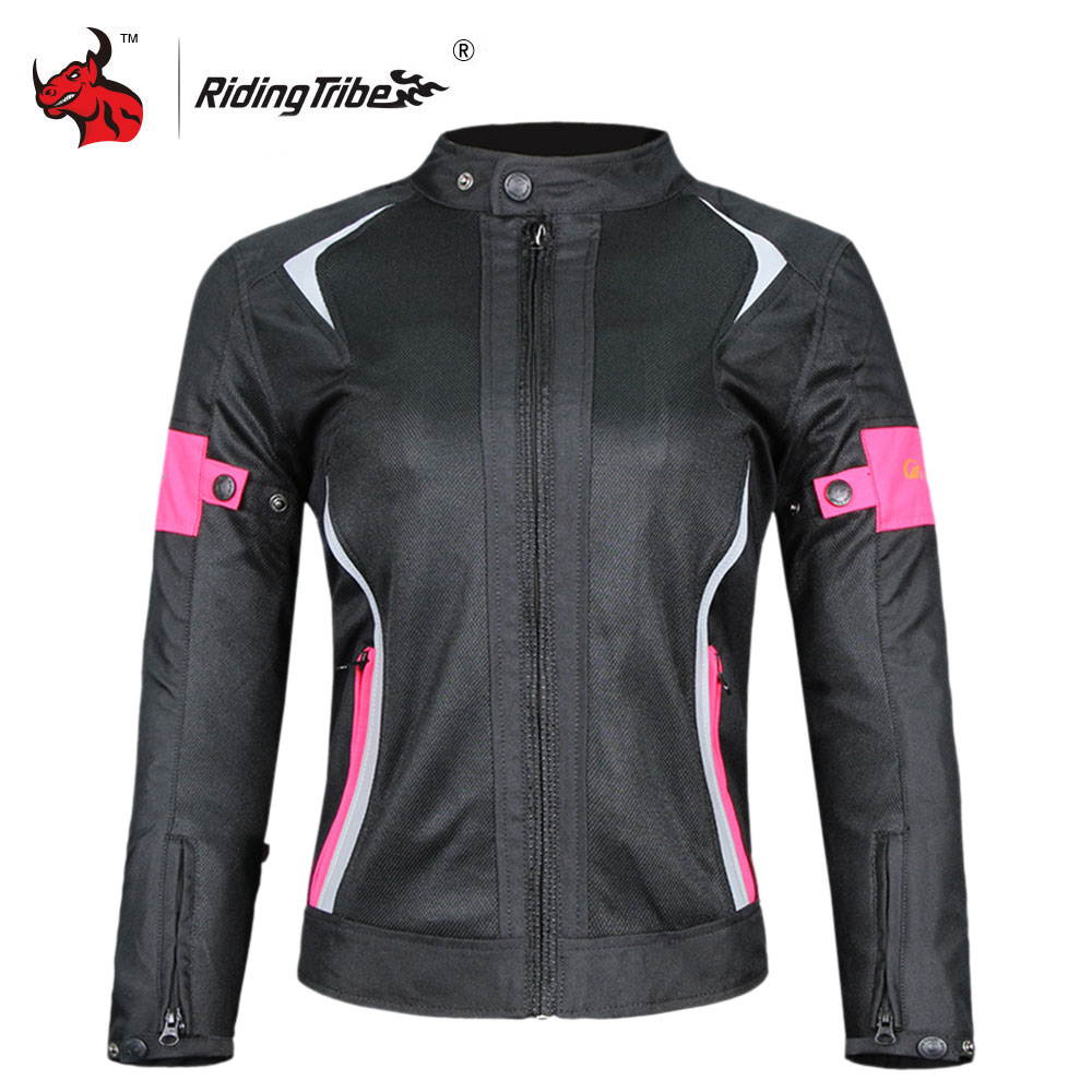 Riding Tribe Women Motorcycle Jacket Summer Breathable Mesh Moto Jacket Protective Gear Motorcycle Suit Motorbike Clothing M-3XL цена