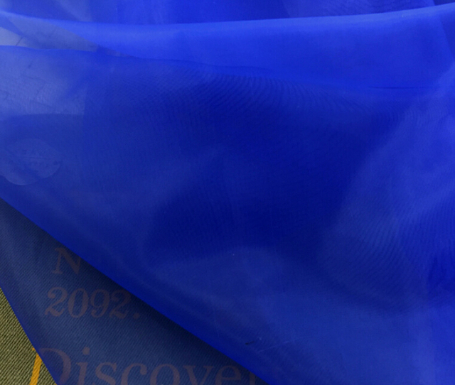 5 Meter 150cm 59 Width Royal Blue Organza Glass Yarn Voile Fabric Tulle Wedding Dress Stage