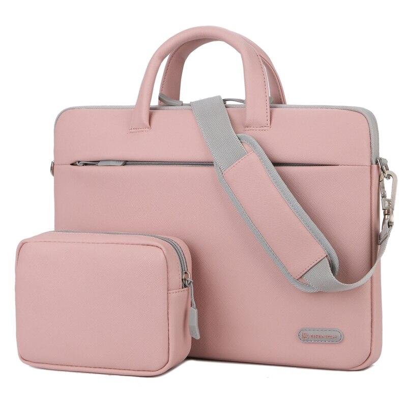 Brinch Waterproof Wear-resistant Laptop Bag 12 13.3 14.6 15 15.6 Inch Laptop Briefcase Pu Computer Case Shoulder Bags Men Women