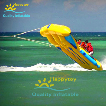inflatable flying fish water sports equipment for 6 players flying fish towable inflatable flying banana boat tube Inflatable rowing paddle Boat Inflatable Flying Fish Banana Boat for Sale
